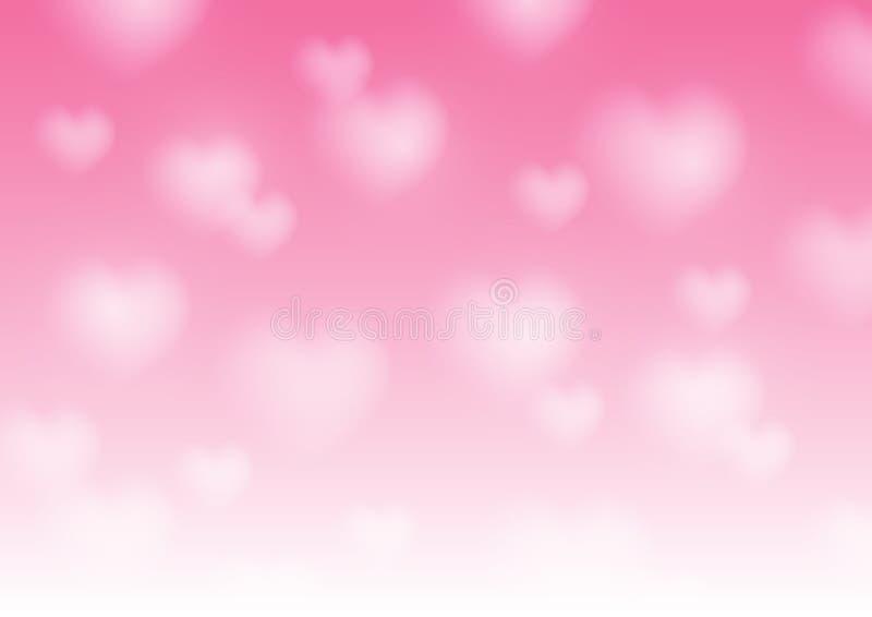 与被弄脏的心脏的情人节背景 向量例证
