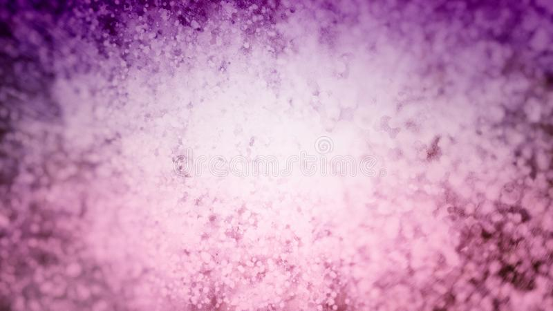 与被弄脏的白色bokeh光或闪烁例证的抽象紫色和桃红色背景 库存例证