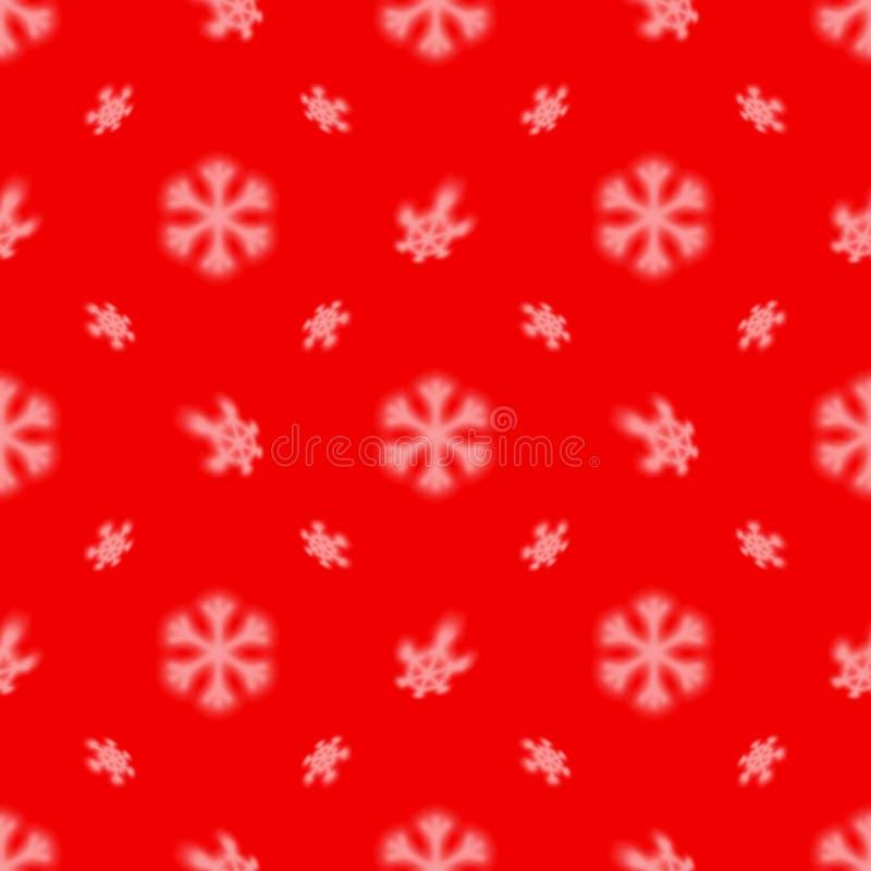 与被弄脏的落的雪星的圣诞节无缝的雪花样式圣诞卡片和铺磁砖的背景的 库存例证