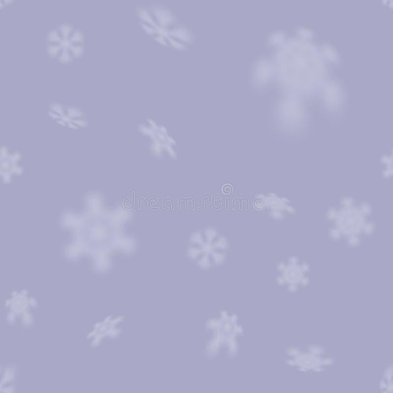 与被弄脏的落的雪的圣诞节无缝的雪花样式担任主角 皇族释放例证