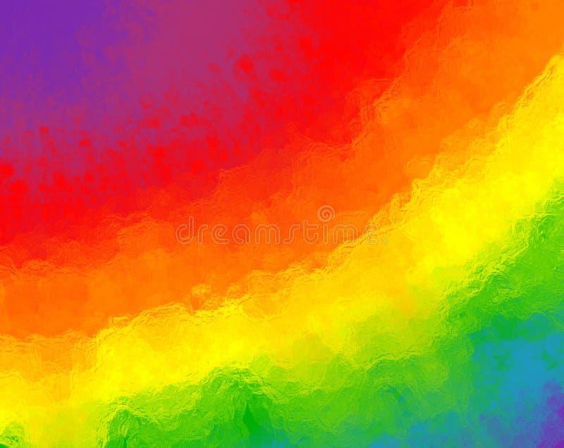 与被弄脏的玻璃纹理和明亮的颜色的抽象彩虹背景 皇族释放例证