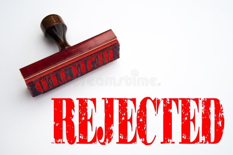 与被拒绝的词不加考虑表赞同的人 库存例证