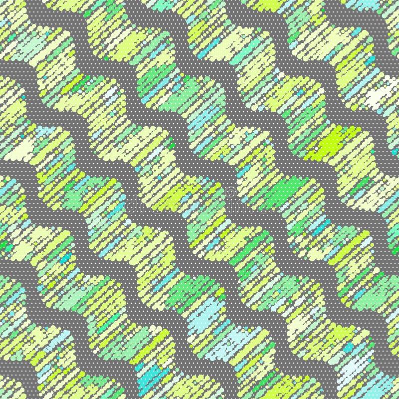 与被溺爱的波浪的织地不很细装饰品在绿色树荫下 皇族释放例证