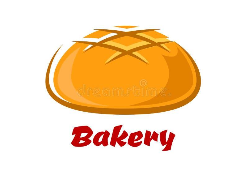与被烘烤的外壳的圆的面包 库存例证