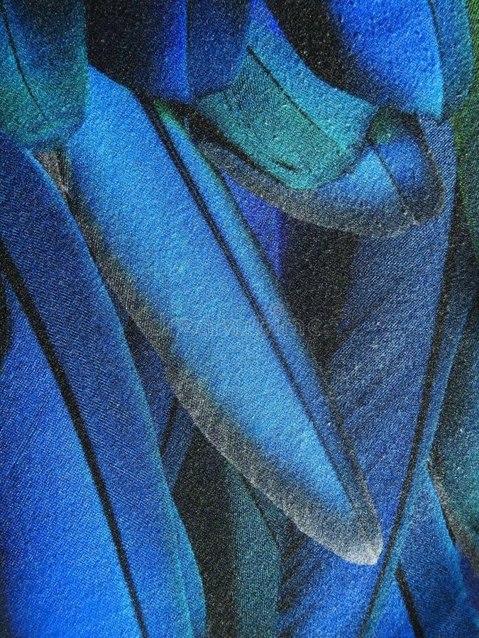与被绘的羽毛的美丽的软的织品,可能使用作为背景 图库摄影