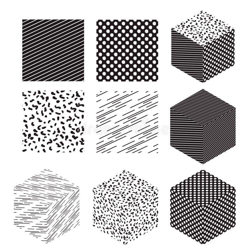 与被设置的样式的立方体形状 皇族释放例证