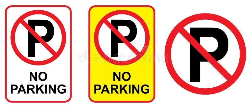 与被设置的汽车象的禁止停车标志 皇族释放例证