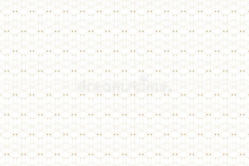 与被连接的线和小点的几何样式 图表背景连通性 现代时髦的多角形背景为 皇族释放例证