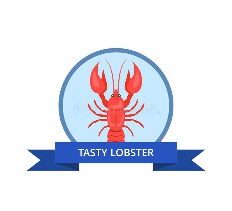 与被隔绝的小龙虾传染媒介的鲜美龙虾商标 皇族释放例证
