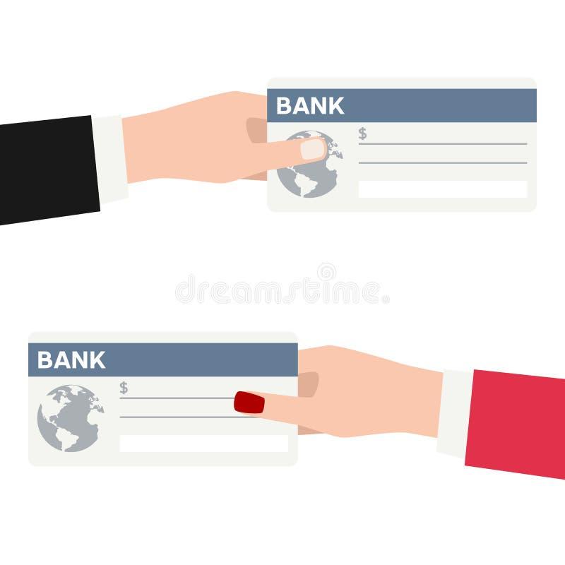 与被隔绝的银行支票平的象的付款 库存例证
