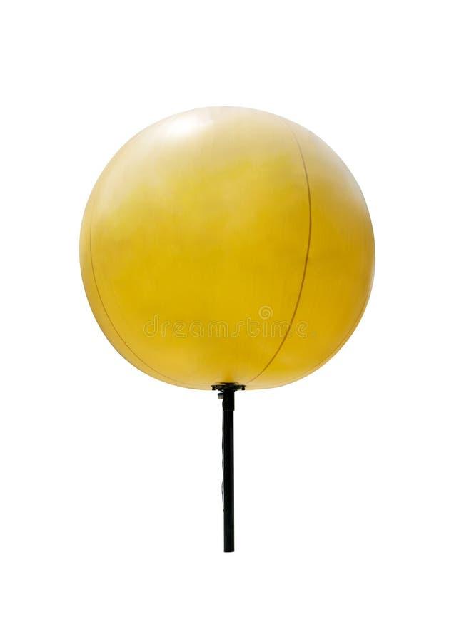 与被隔绝的黑金属结构的黄色广告轻快优雅  库存图片