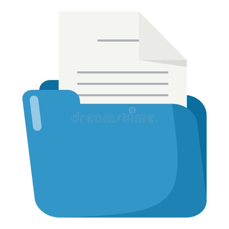 与被隔绝的文件平的象的蓝色文件夹 向量例证