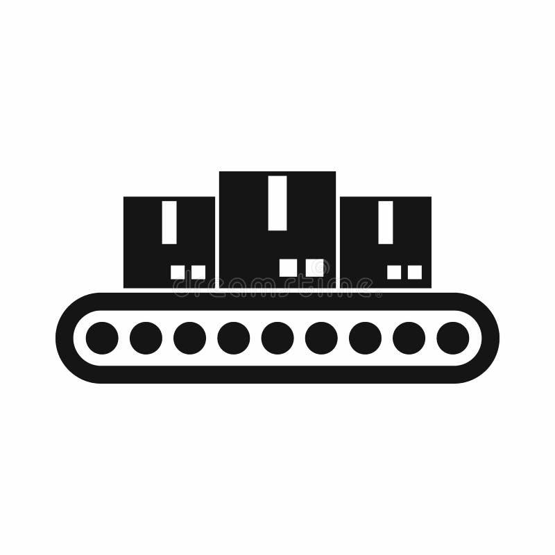 与装载象,简单的样式的皮带输送机 库存例证