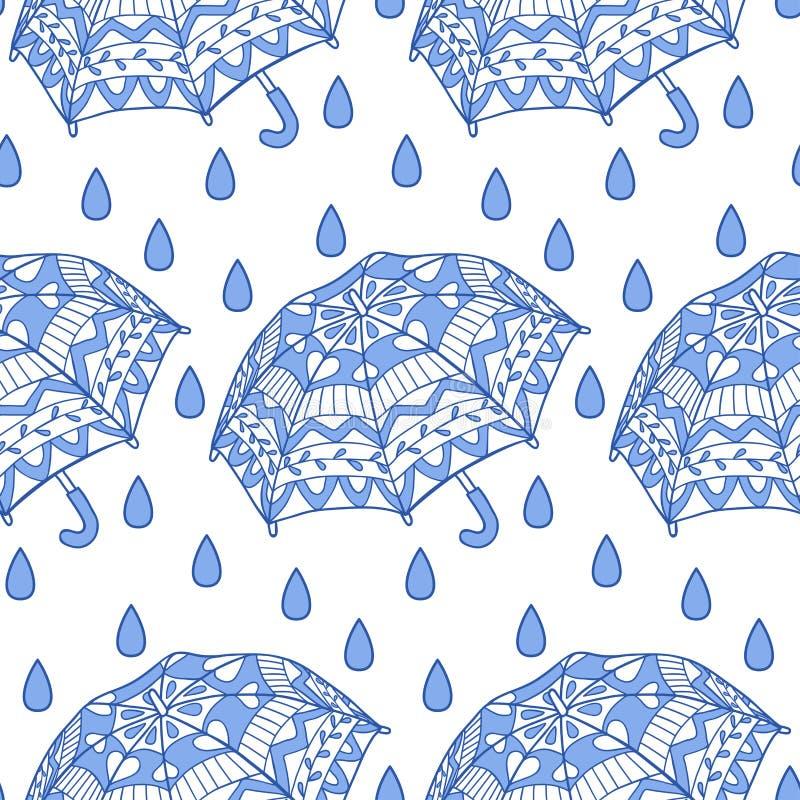 Download 与装饰伞和雨的无缝的样式 向量例证. 插画 包括有 季节, 夏天, 织品, 例证, 包裹, 蓝色, 赞誉 - 62526158