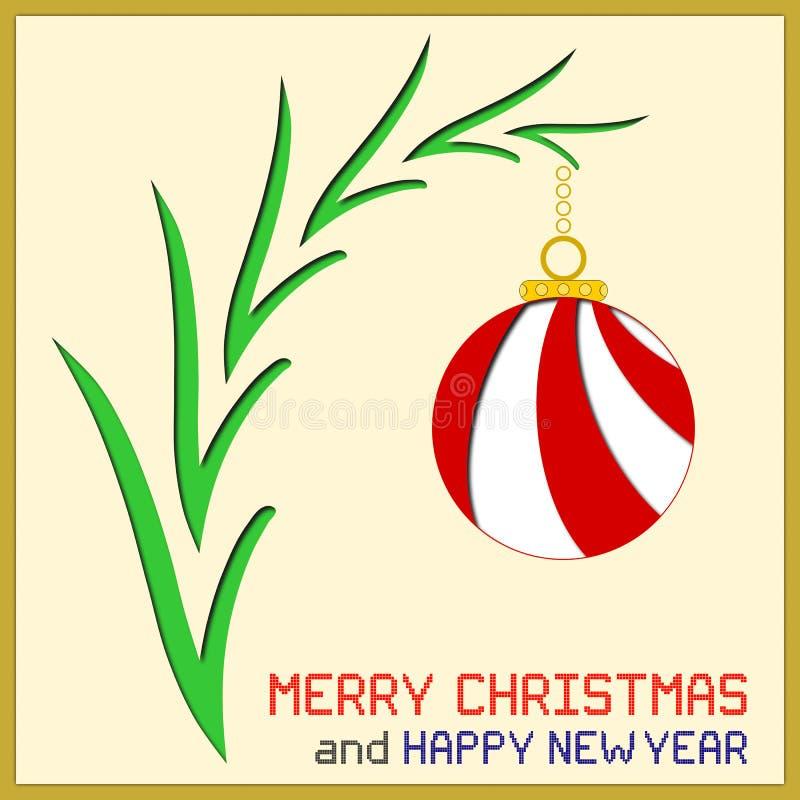 与装饰品的圣诞节消息 皇族释放例证