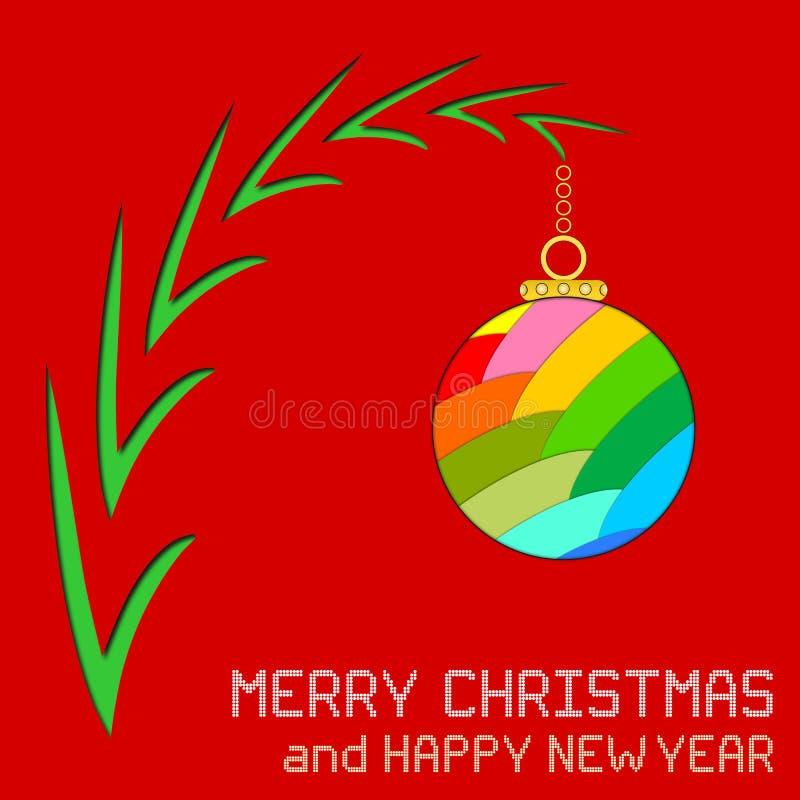 与装饰品的圣诞节消息 库存例证
