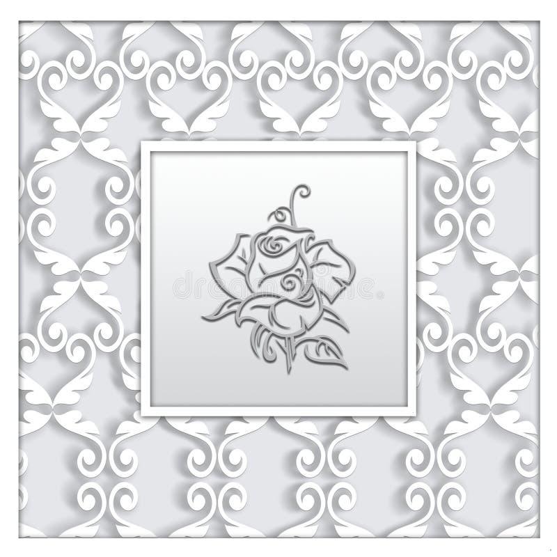 与装饰品的抽象方形的框架 皇族释放例证