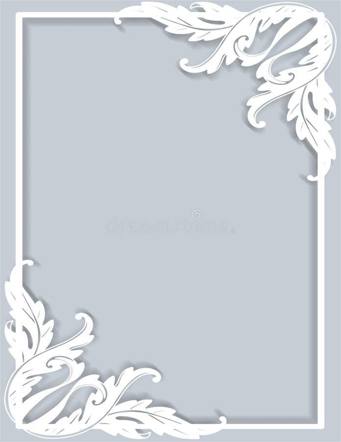 与装饰品的框架边界 向量例证