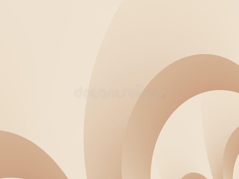 与装饰曲拱或拱道的咖啡褐色的抽象分数维 库存例证