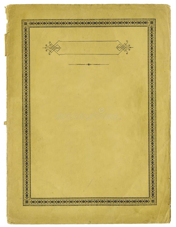 与装饰框架和被撕毁的边缘的古色古香的纸 图库摄影