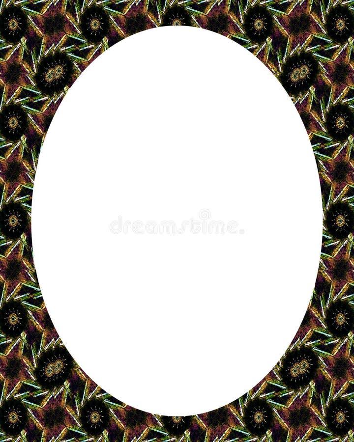 与装饰的边界的圈子白色框架背景 皇族释放例证
