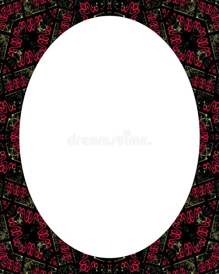 与装饰的边界的圈子白色框架背景 库存例证