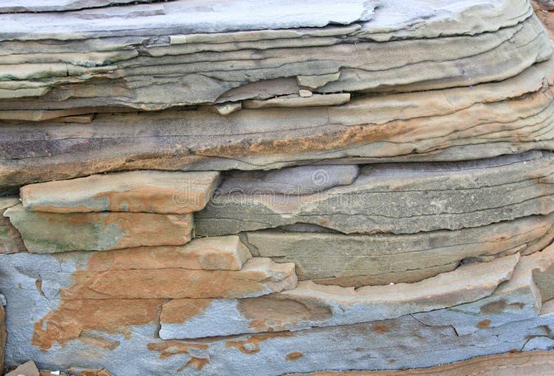 与褐色的石纹理灰色 免版税图库摄影