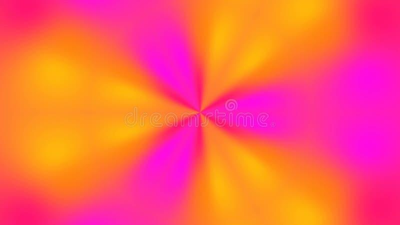 与视觉幻觉和波浪作用, 3d翻译计算机引起的抽象明亮的多彩多姿的背景 免版税库存图片