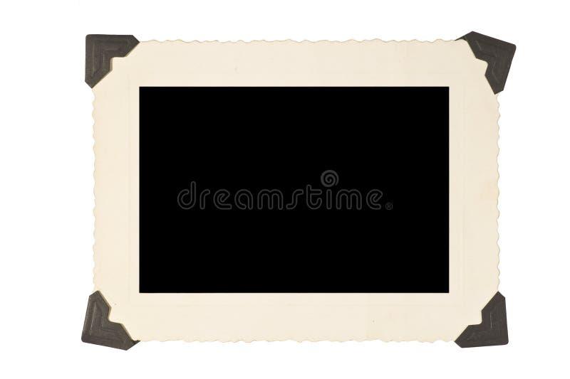 与角落的画框在白色背景 免版税库存照片