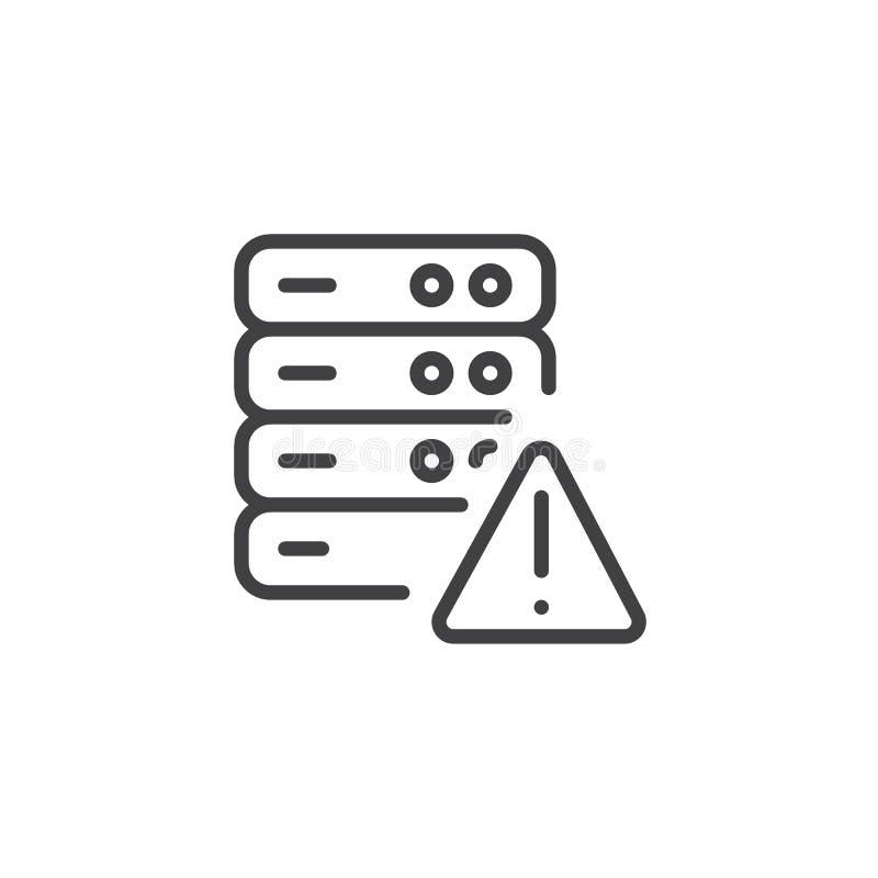 与警报信号概述象的数据库 库存例证