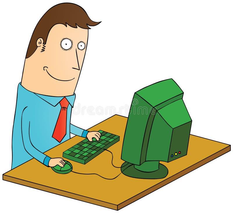 与计算机一起使用 向量例证