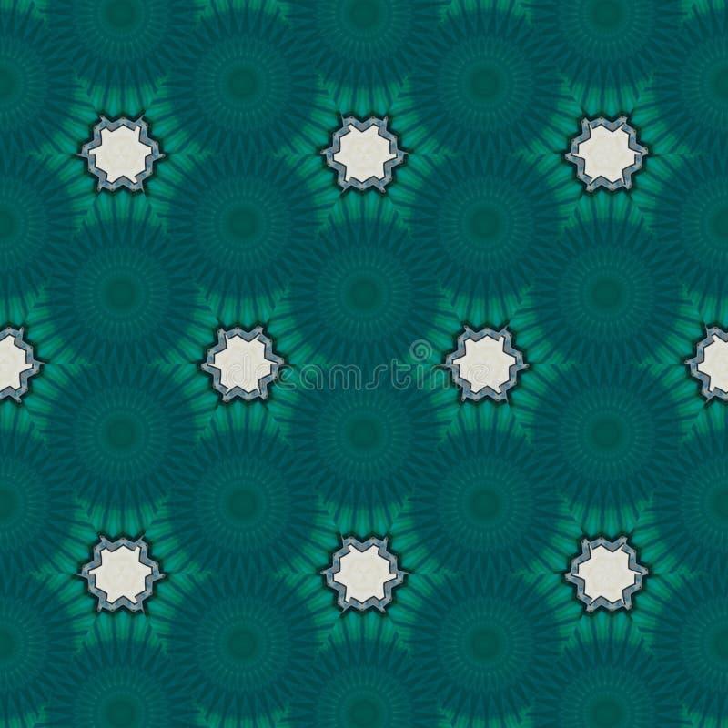 与计算机控制学的微粒的几何摘要blue+green数字背景 向量例证