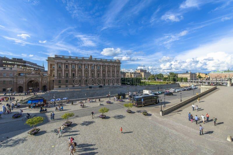 与议会的斯德哥尔摩视图 库存图片