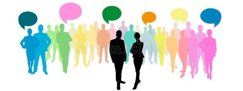 Download 与讲话泡影的集团 库存例证. 插画 包括有 经济, 背包, 网络, 概念, 贸易商, 商业, aeolus - 62536232