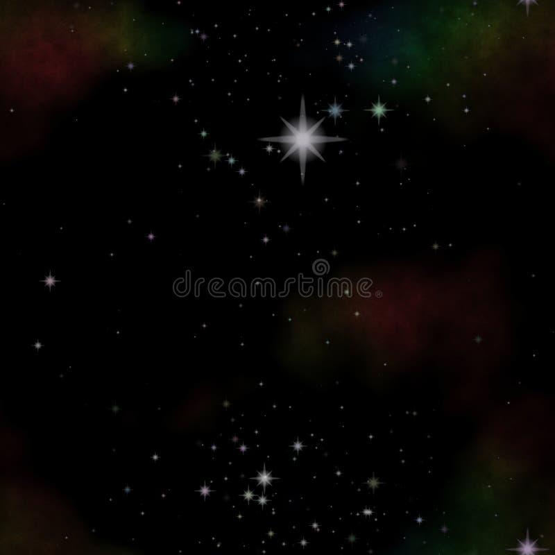 与许多星的夜星系 向量例证