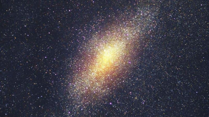 与许多星的星系在外层空间 免版税库存照片