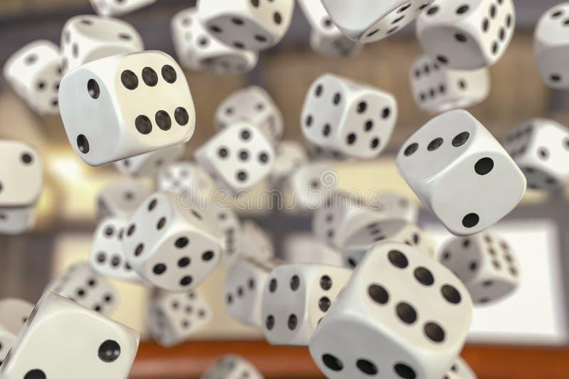 与许多模子的一场赌博 向量例证