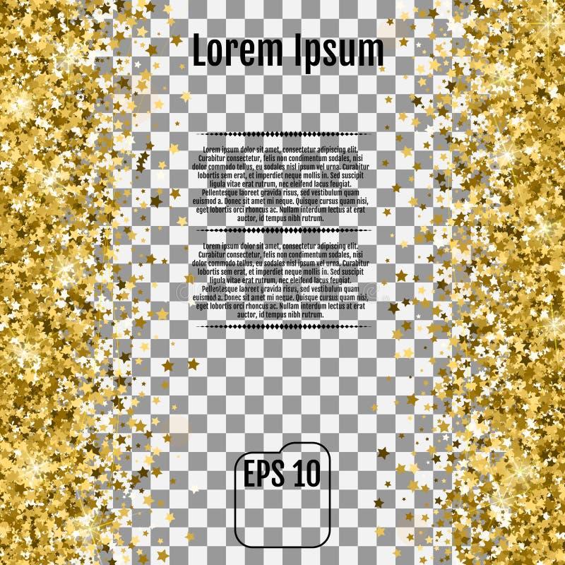 与许多的抽象背景落的金子担任主角五彩纸屑 Vecto 向量例证