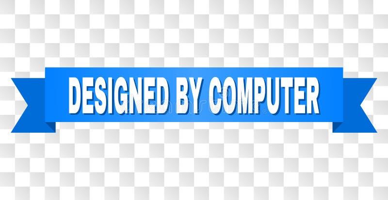 与设计的蓝色条纹由计算机标题 皇族释放例证