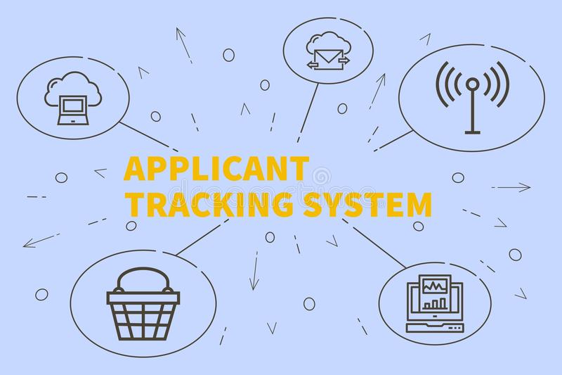 与词申请人tracki的概念性企业例证 库存例证