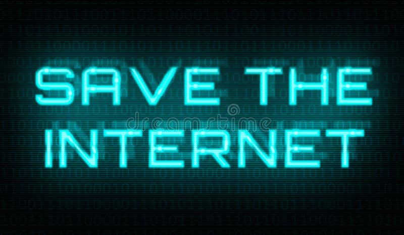 与词的二进制编码在中心保存互联网 免版税库存图片