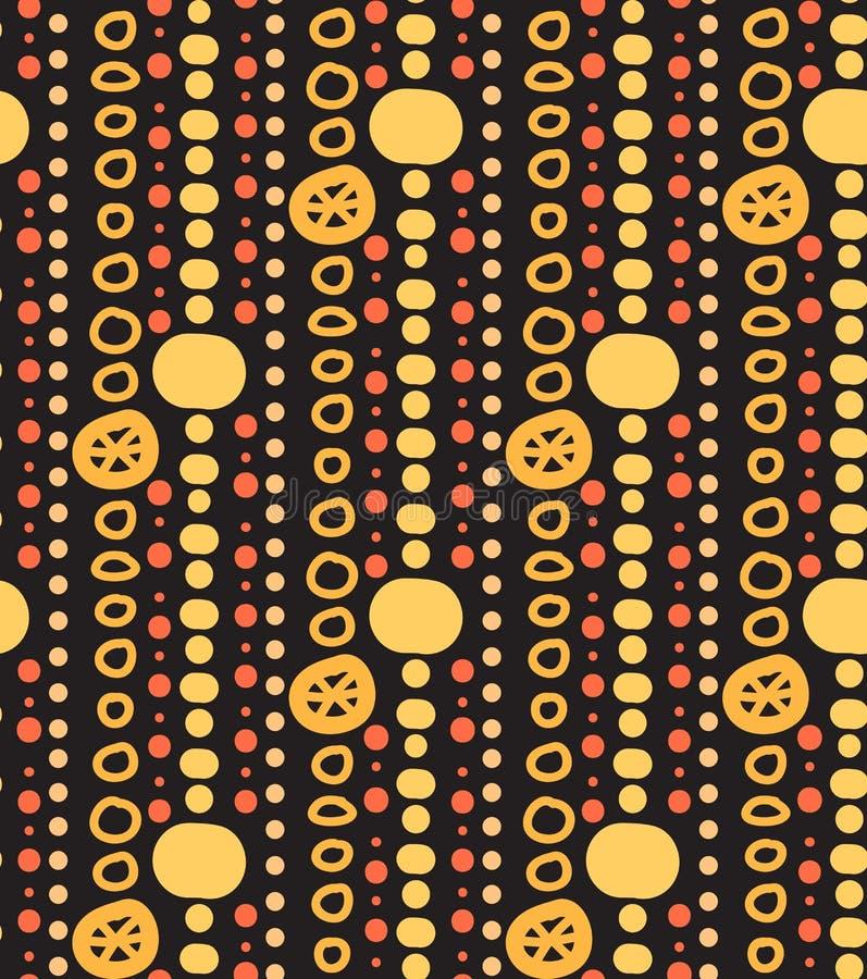 Download 与诗歌选和小珠的无缝的纹理在黑暗的背景 向量例证. 插画 包括有 五颜六色, 印第安语, beauvoir - 62526078