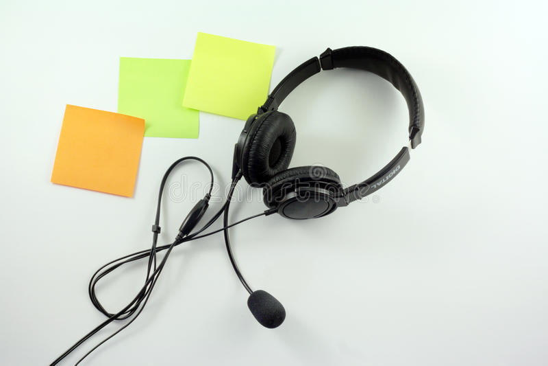 与话筒的耳机 免版税库存图片