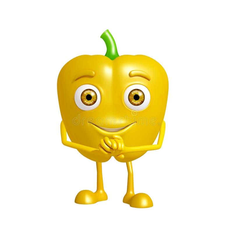 与诺言姿势的辣椒的果实字符 皇族释放例证