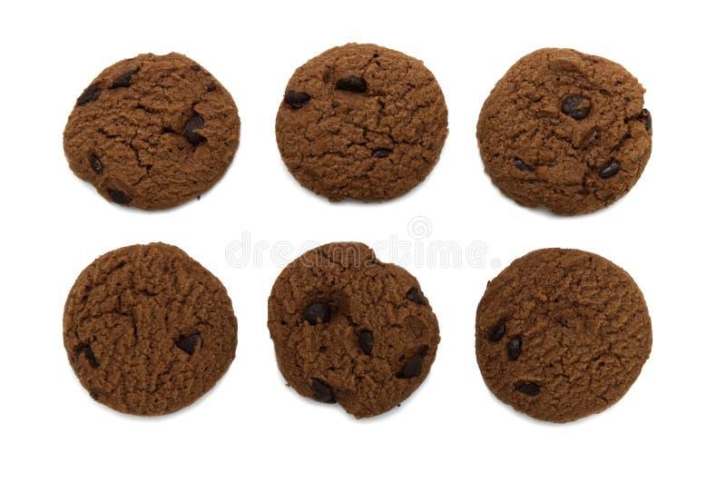与调味的巧克力片的饼干 库存图片