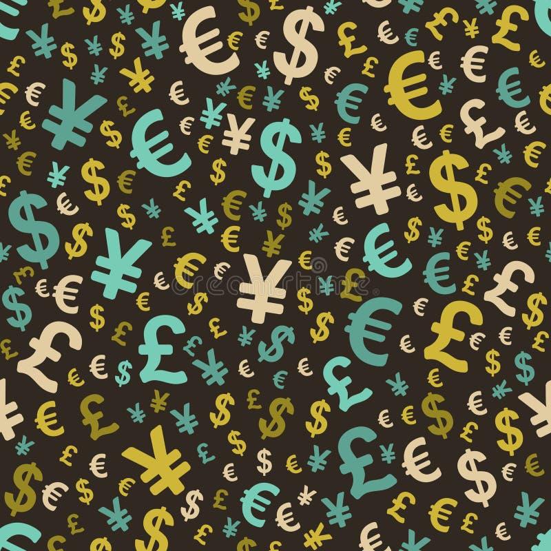 与货币的抽象无缝的模式 皇族释放例证