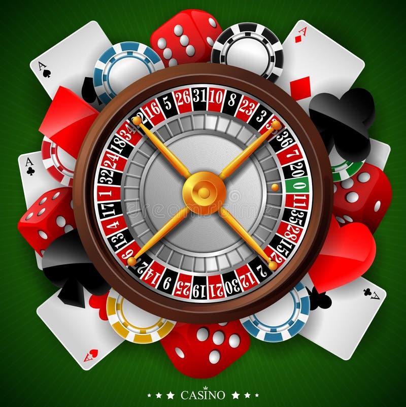 与赌博的元素的赌博娱乐场背景
