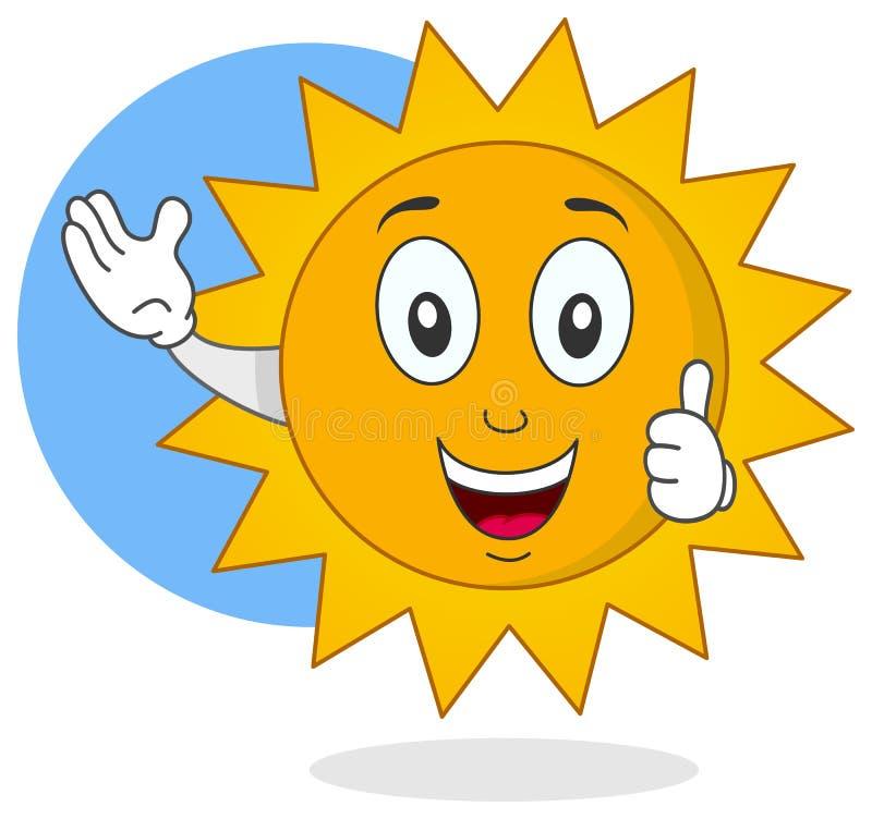 愉快的夏天太阳字符 皇族释放例证