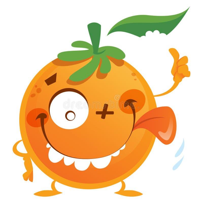 疯狂的橙色字符 皇族释放例证