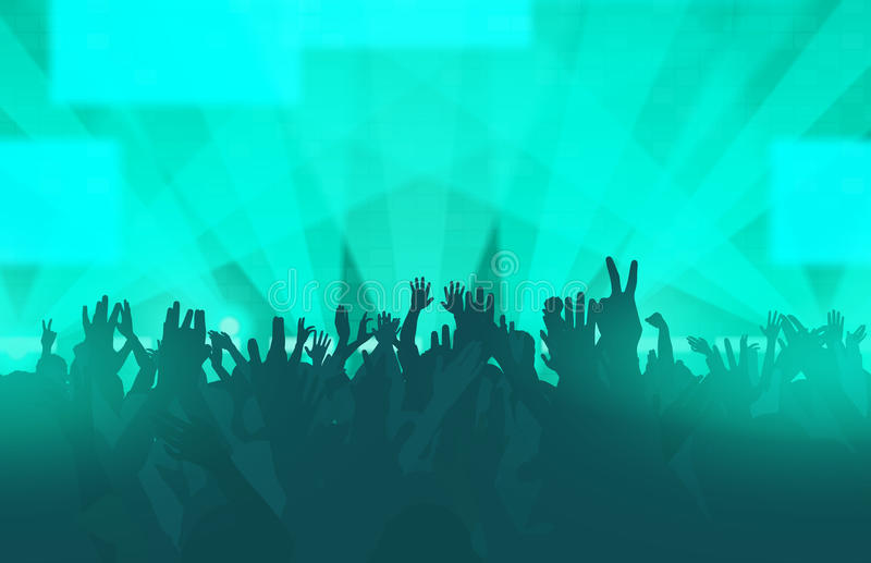 与跳舞人的电子舞蹈音乐节日 皇族释放例证